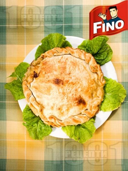Баница със свинско филе, шунка и грах - снимка на рецептата